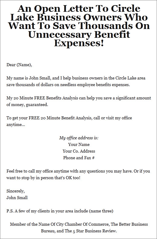 Business To Business Marketing Letter Sequence