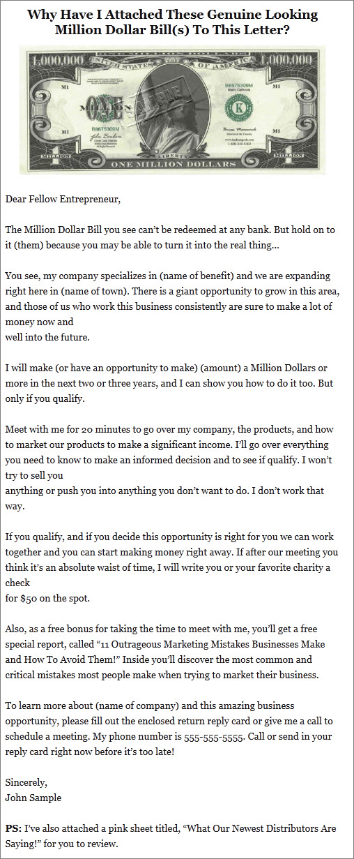 business opportunity letter