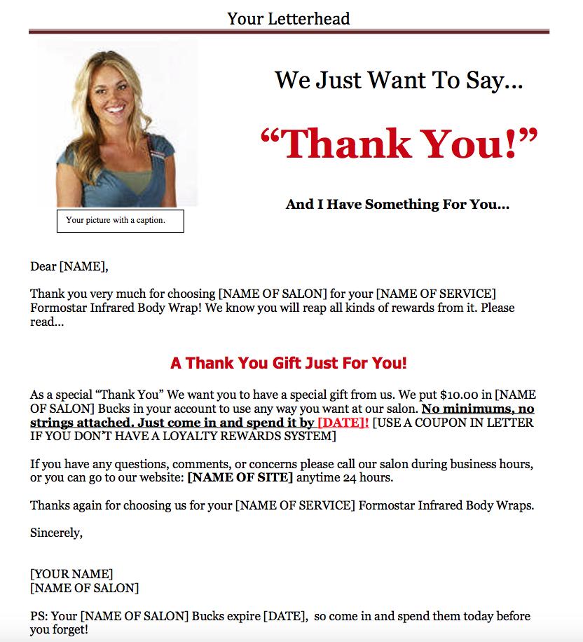 sales letter formatting