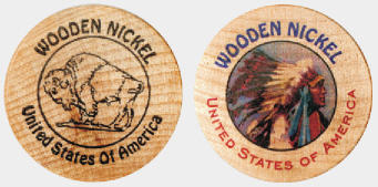 wooden nickles